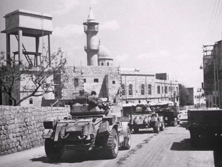 المدرعات الصهيونية تدخل حيفا22 نيسان 1948.JPG