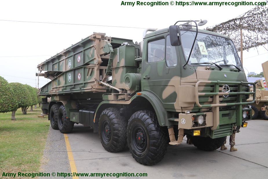 China has donated GQL-111 bridge layer systems to Peruvian army Lima Peru SITDEF 2019 925 001.jpg