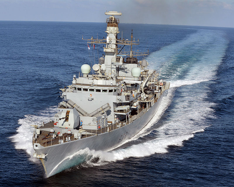 HMS_Kent_carries_out_manoeuvres_off_the_coast_of_Djibouti._MOD_45158509.jpg