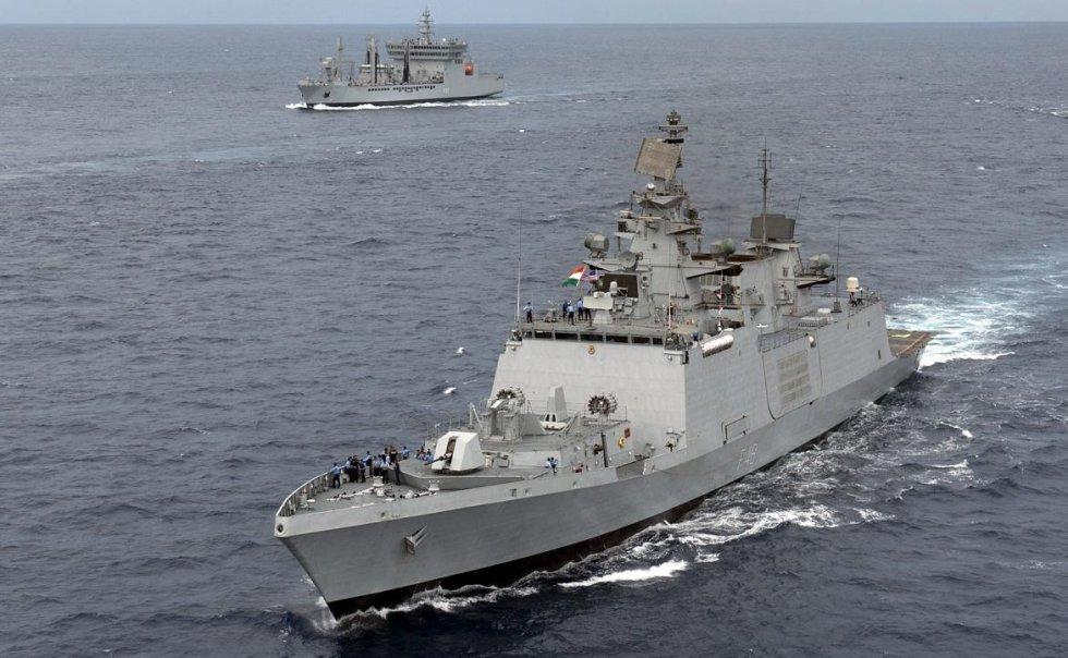 INS Satpura (F48) Shivalik class frigates or Project 17 class frigates are multi-role frigates...jpg