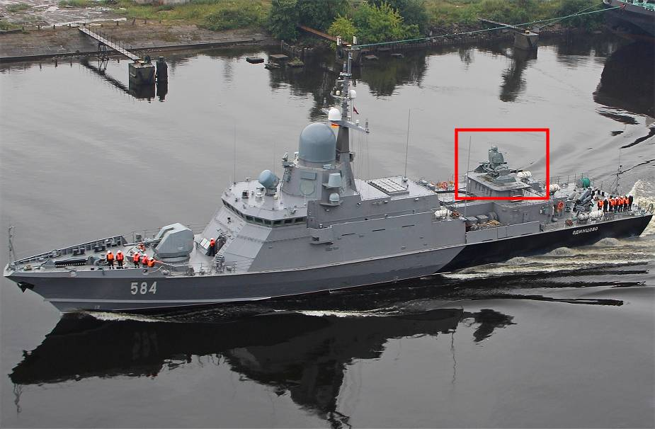Pantsir-M_missile_system_onboard_Odintsovo_corvette_of_project_22800_able_to_destroy_cruise_mi...jpg